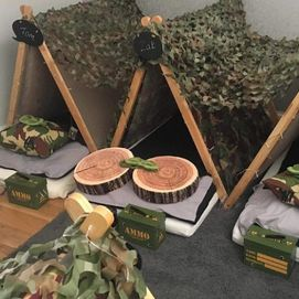 wood and ammo boxes